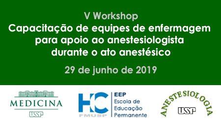 V Workshop Capac de equipes de enfermagem para apoio ao anestesiologista durante o ato anestesico 450x250px SITE
